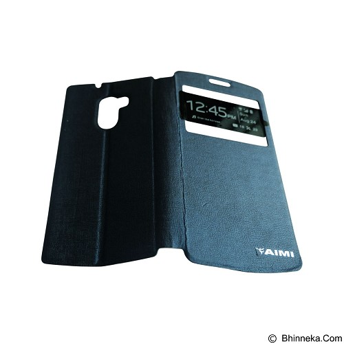 AIMI Flip Cover Fitur View for Lenovo A7010 [K4 Note] - Dark Blue (Merchant) - Casing Handphone / Case