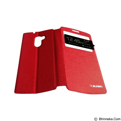 AIMI Flip Cover Fitur View for Lenovo A7010 [K4 Note] - Red (Merchant) - Casing Handphone / Case