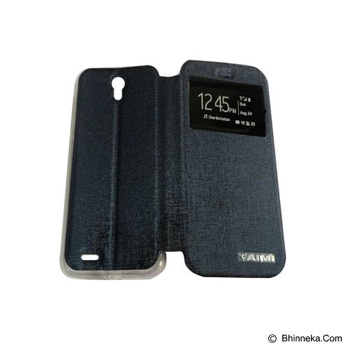 AIMI Flip Cover Fitur View for Lenovo A859 - Dark Blue (Merchant) - Casing Handphone / Case
