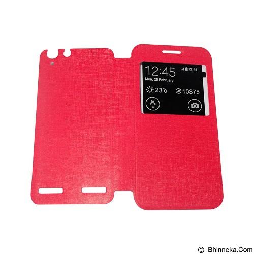 AIMI Flip Cover Fitur View for Lenovo Vibe K5 - Red (Merchant) - Casing Handphone / Case