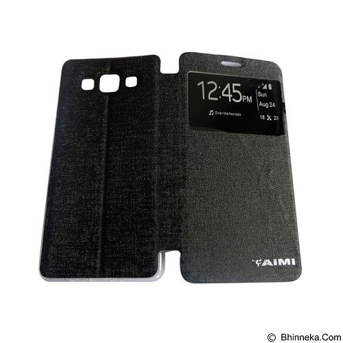 AIMI Flip Cover Fitur View for Samsung Galaxy A500 - Black (Merchant) - Casing Handphone / Case