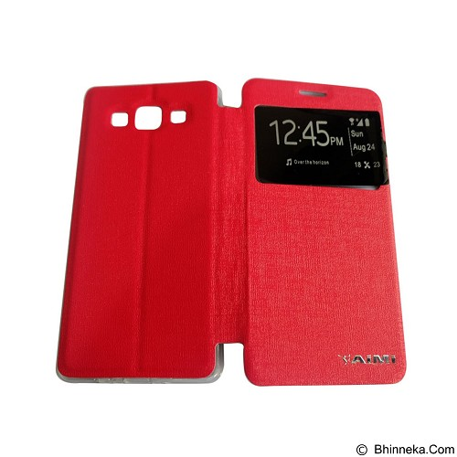 AIMI Flip Cover Fitur View for Samsung Galaxy A500 - Red (Merchant) - Casing Handphone / Case