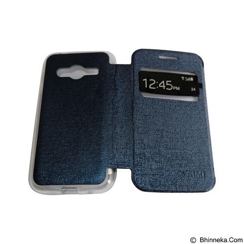 AIMI Flip Cover Fitur View for Samsung Galaxy Ace 4 G313H - Dark Blue (Merchant) - Casing Handphone / Case