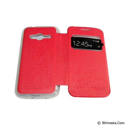AIMI Flip Cover Fitur View for Samsung Galaxy Ace 4 G313H - Red (Merchant) - Casing Handphone / Case
