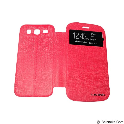 AIMI Flip Cover Fitur View for Samsung Galaxy Grand i9082 - Red (Merchant) - Casing Handphone / Case