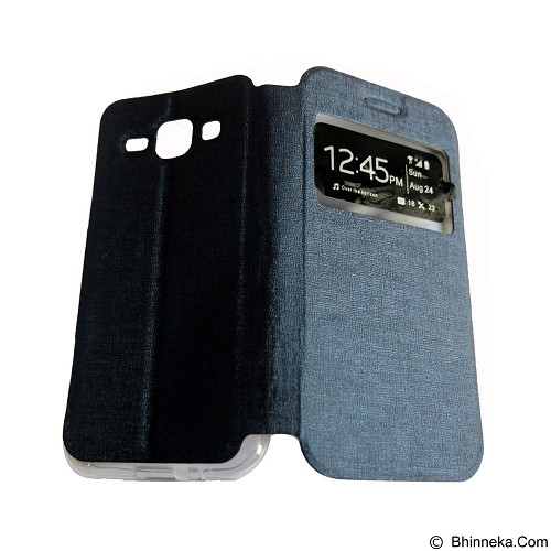 AIMI Flip Cover Fitur View for Samsung Galaxy J100 - Dark Blue (Merchant) - Casing Handphone / Case