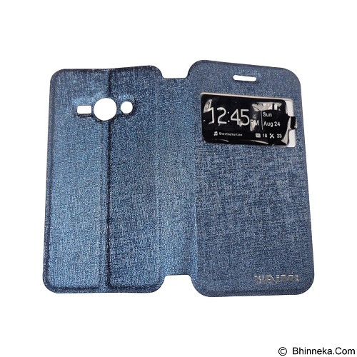 AIMI Flip Cover Fitur View for Samsung Galaxy J110 - Dark Blue (Merchant) - Casing Handphone / Case