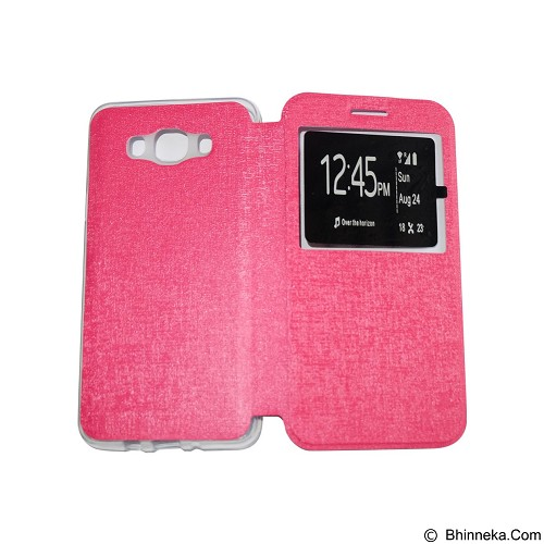 AIMI Flip Cover Fitur View for Samsung Galaxy J7 (2016) - Pink (Merchant) - Casing Handphone / Case