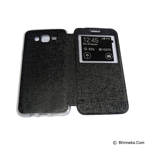 AIMI Flip Cover Fitur View for Samsung Galaxy J700 - Black (Merchant) - Casing Handphone / Case