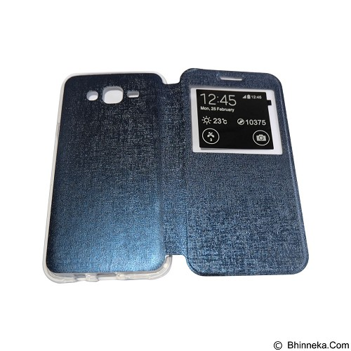 AIMI Flip Cover Fitur View for Samsung Galaxy J700 - Dark Blue (Merchant) - Casing Handphone / Case