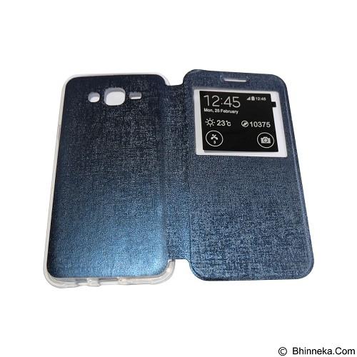 AIMI Flip Cover Fitur View for Samsung Galaxy J700 - Dark Blue (Merchant) - Casing Handphone / Case