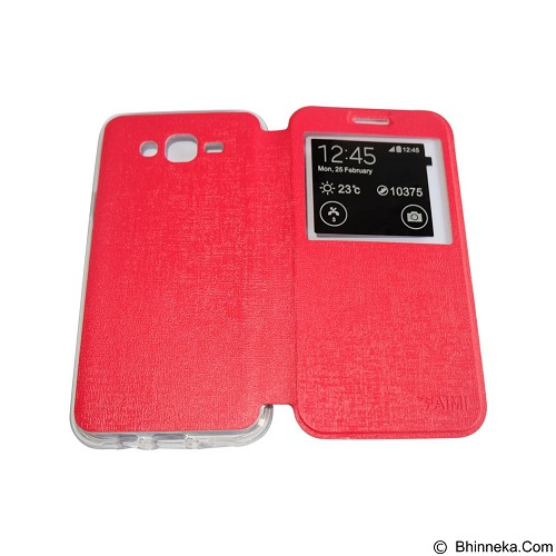 AIMI Flip Cover Fitur View for Samsung Galaxy J700 - Red (Merchant) - Casing Handphone / Case