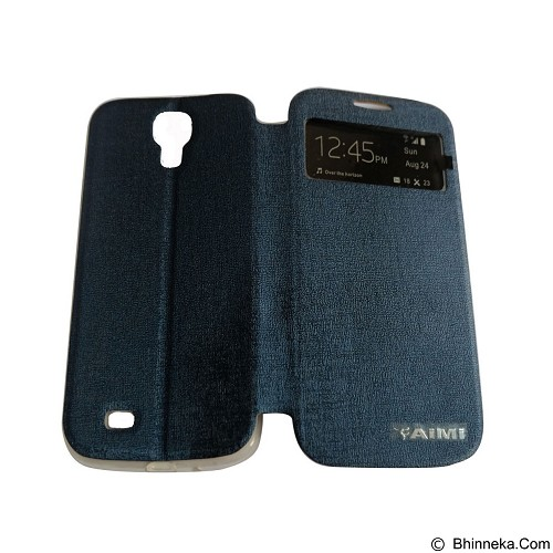 AIMI Flip Cover Fitur View for Samsung Galaxy S4 i9500 - Dark Blue (Merchant) - Casing Handphone / Case