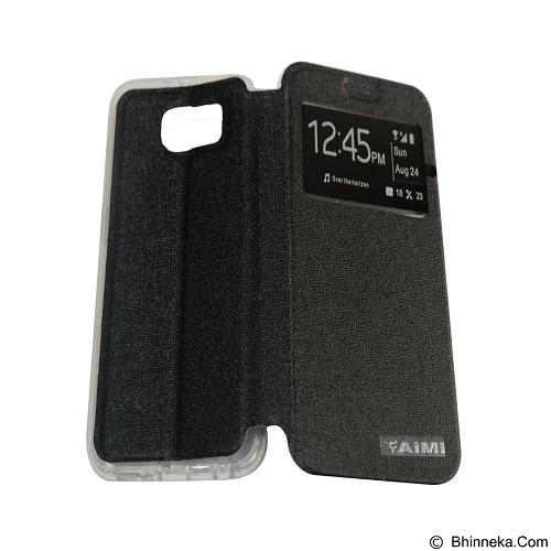 AIMI Flip Cover Fitur View for Samsung Galaxy S6 - Black (Merchant) - Casing Handphone / Case