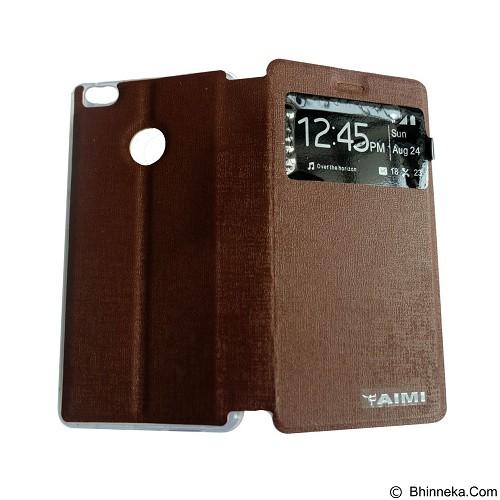 AIMI Flip Cover Fitur View for Xiaomi Mi 4S - Brown (Merchant) - Casing Handphone / Case