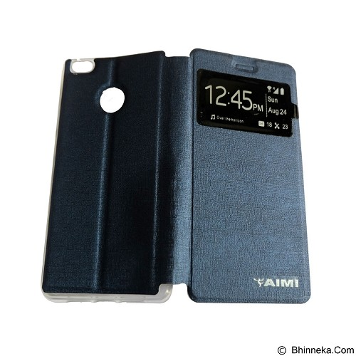 AIMI Flip Cover Fitur View for Xiaomi Mi 4S - Dark Blue (Merchant) - Casing Handphone / Case