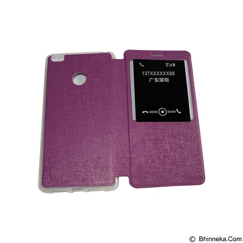 AIMI Flip Cover Fitur View for Xiaomi Mi Max - Purple (Merchant) - Casing Handphone / Case
