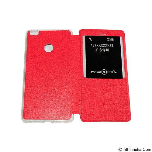 AIMI Flip Cover Fitur View for Xiaomi Mi Max - Red (Merchant) - Casing Handphone / Case