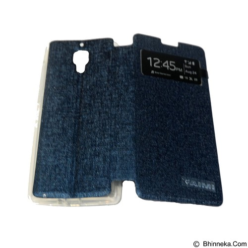 AIMI Flip Cover Fitur View for Xiaomi Redmi 1S - Dark Blue (Merchant) - Casing Handphone / Case