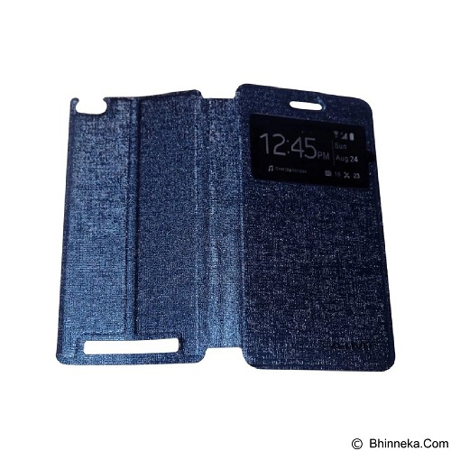 AIMI Flip Cover Fitur View for Xiaomi Redmi 3 - Dark Blue (Merchant) - Casing Handphone / Case