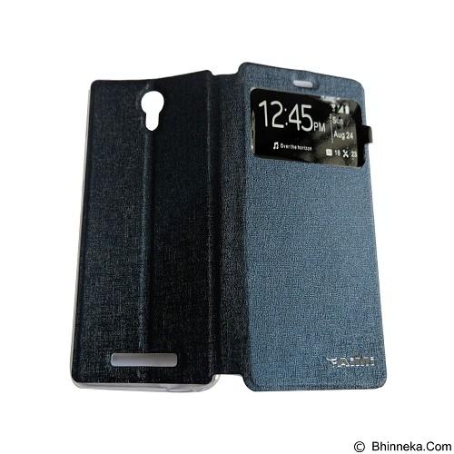 AIMI Flip Cover Fitur View for Xiaomi Redmi Note 2 - Dark Blue (Merchant) - Casing Handphone / Case