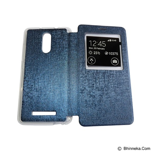 AIMI Flip Cover Fitur View for Xiaomi Redmi Note 3 - Dark Blue (Merchant) - Casing Handphone / Case