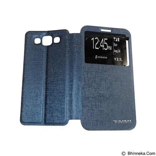 AIMI Flip Cover Fitur View for Samsung Galaxy E700/E7 - Dark Blue (Merchant) - Casing Handphone / Case