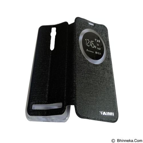 AIMI Flipcover Fitur View for Asus Zenfone 2 5.5 ZE550ML/ZE551ML - Black (Merchant) - Casing Handphone / Case