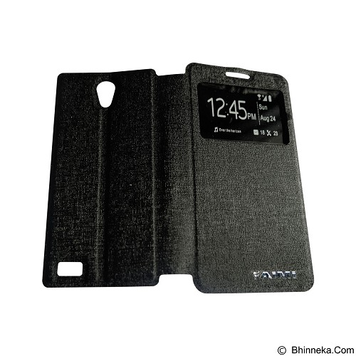 AIMI Flipcover Fitur View for Oppo Joy3 A11W - Black (Merchant) - Casing Handphone / Case