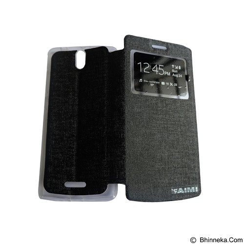AIMI Flipcover Fitur View for Oppo Mirror 3 R3007 - Black (Merchant) - Casing Handphone / Case