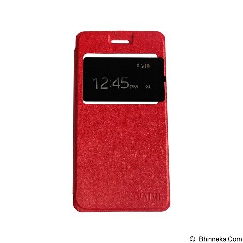 AIMI Flipcover Fitur View for Oppo Neo 5 A31T - Red (Merchant) - Casing Handphone / Case