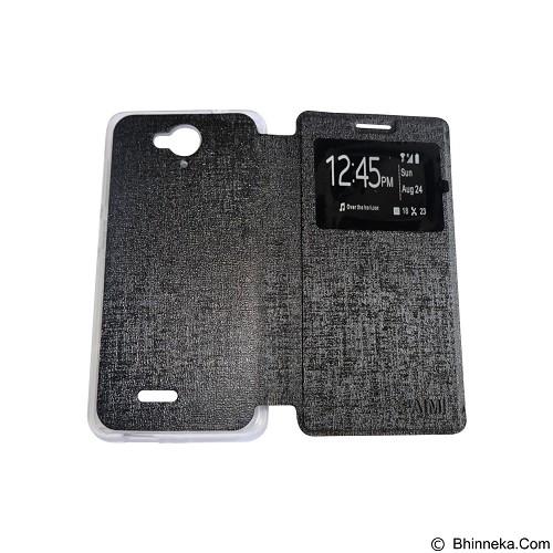 AIMI Flipcover Fitur View for Smartfren Andromax E2 Plus - Black (Merchant) - Casing Handphone / Case