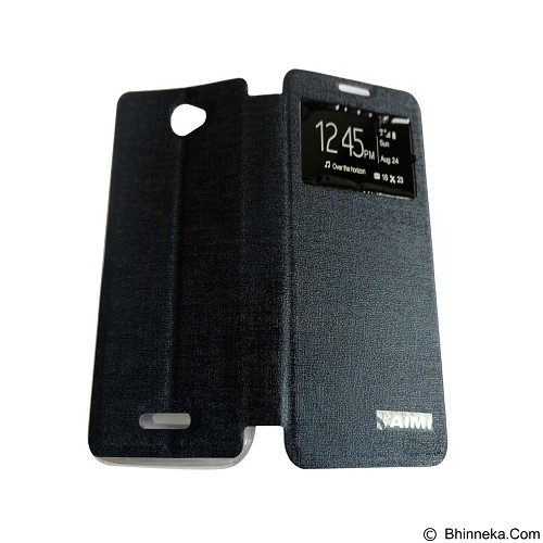 AIMI Flipcover Fitur View for Sony Xperia E4 - Dark Blue (Merchant) - Casing Handphone / Case