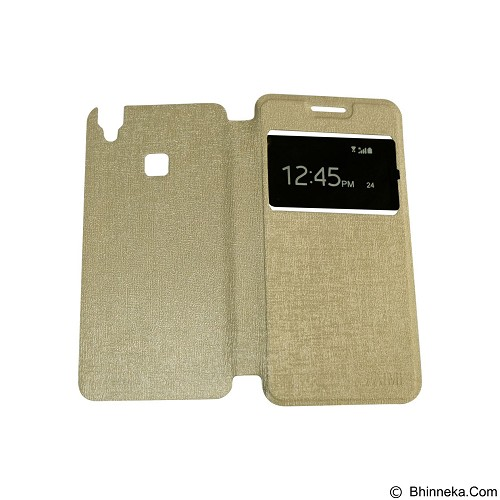 AIMI Flipcover Fitur View for Vivo V3 Max - Gold (Merchant) - Casing Handphone / Case
