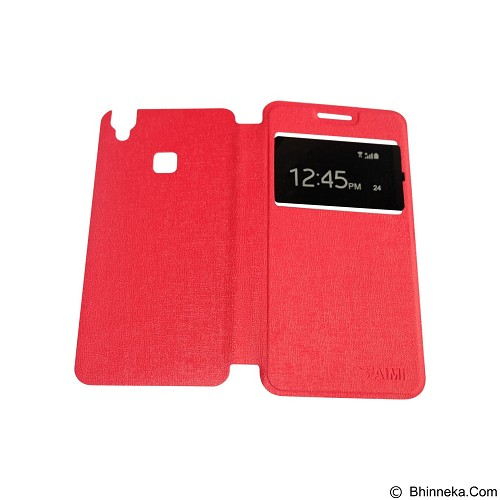 AIMI Flipcover Fitur View for Vivo V3 - Red (Merchant) - Casing Handphone / Case