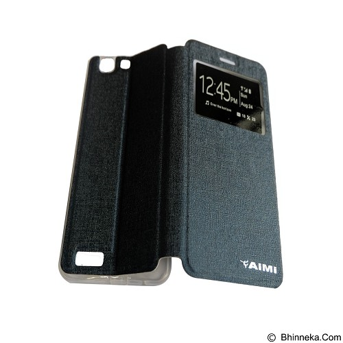 AIMI Flipcover Fitur View for Vivo X3 S - Dark Blue (Merchant) - Casing Handphone / Case