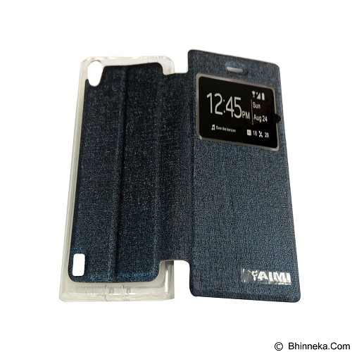 AIMI Flipcover Fitur View for Vivo Y15 - Dark Blue (Merchant) - Casing Handphone / Case