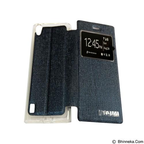 AIMI Flipcover Fitur View for Vivo Y15 - Dark Blue (Merchant) - Casing Handphone / Case