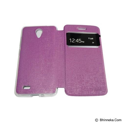 AIMI Flipcover Fitur View for Vivo Y21 - Purple (Merchant) - Casing Handphone / Case