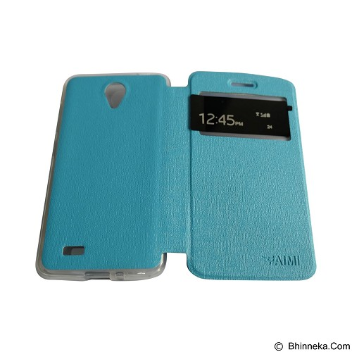 AIMI Flipcover Fitur View for Vivo Y21 - Soft Blue (Merchant) - Casing Handphone / Case