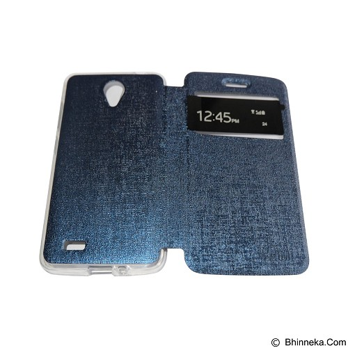 AIMI Flipcover Fitur View for Vivo Y22 - Dark Blue (Merchant) - Casing Handphone / Case