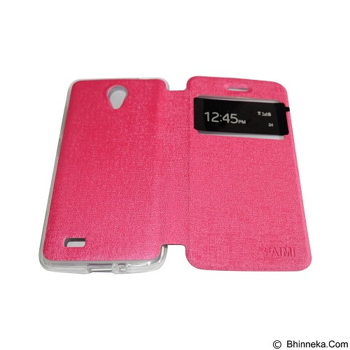 AIMI Flipcover Fitur View for Vivo Y22 - Pink (Merchant) - Casing Handphone / Case