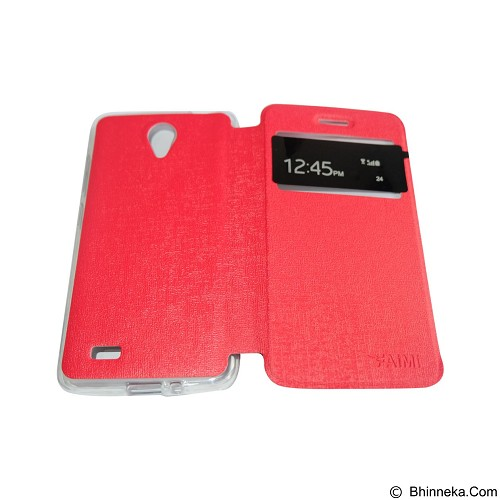 AIMI Flipcover Fitur View for Vivo Y22 - Red (Merchant) - Casing Handphone / Case