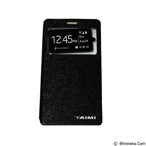 AIMI Flipcover Fitur View for Vivo Y28 - Black (Merchant) - Casing Handphone / Case