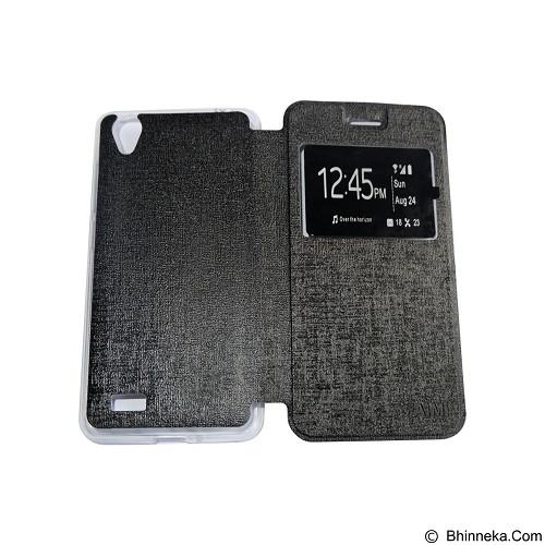 AIMI Flipcover Fitur View for Vivo Y31 - Black (Merchant) - Casing Handphone / Case