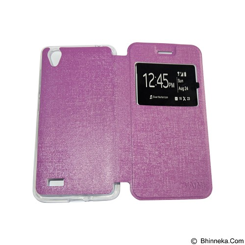 AIMI Flipcover Fitur View for Vivo Y31 - Purple (Merchant) - Casing Handphone / Case