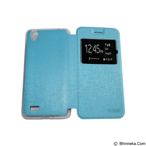 AIMI Flipcover Fitur View for Vivo Y31 - Soft Blue (Merchant) - Casing Handphone / Case