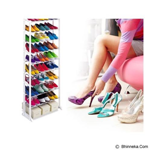 AIUEO Amazing Portable Shoe Rack Foldable 30 Pairs - White - Rak Sepatu