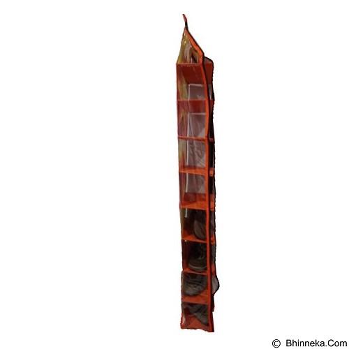 ALBERTA Rak Sepatu Gantung 9 Susun Motif Bunga [RSP 0003] - Orange (Merchant) - Rak Tas