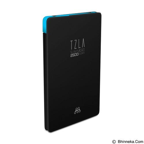 ALCATROZ Tzla Slim Micro 2500mAh - Black Blue - Portable Charger / Power Bank